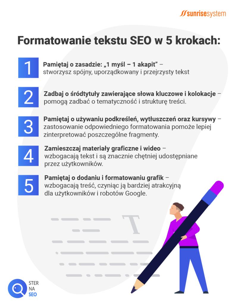 Formatowanie tekstu SEO w 5 krokach